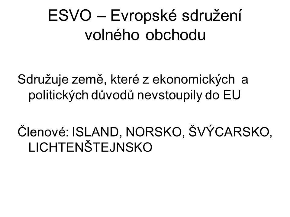 ESVO – Evropské sdružení volného obchodu
