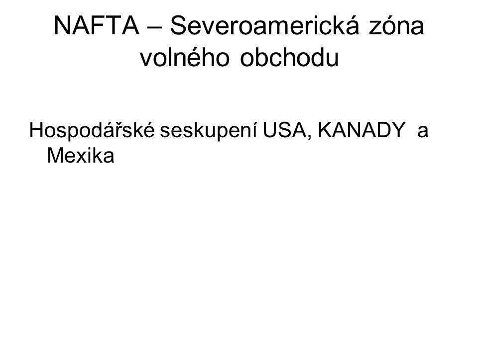 NAFTA – Severoamerická zóna volného obchodu