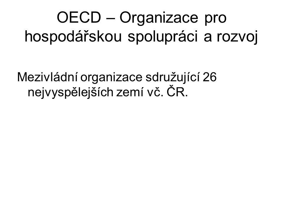 OECD – Organizace pro hospodářskou spolupráci a rozvoj