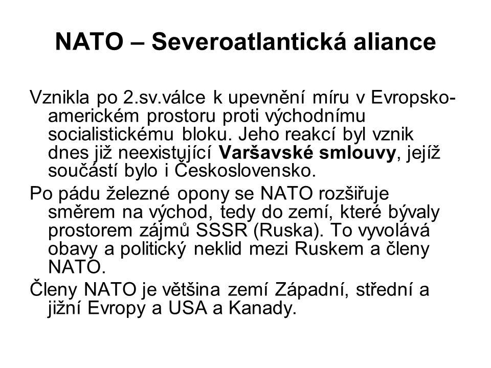NATO – Severoatlantická aliance