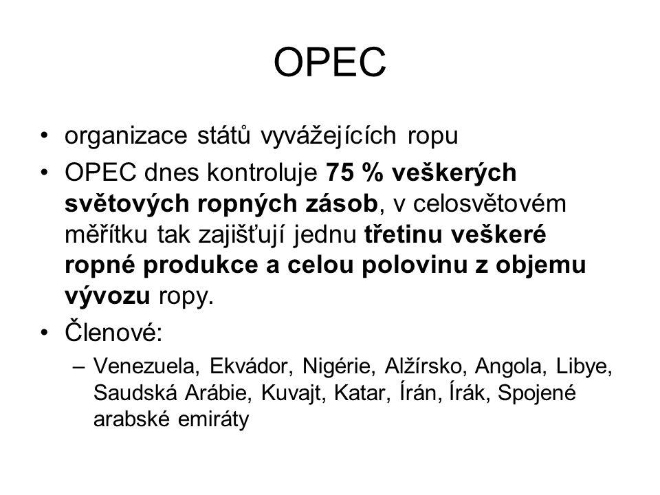 OPEC organizace států vyvážejících ropu