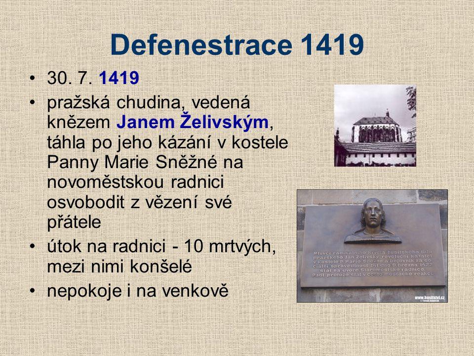 Defenestrace 1419 30. 7. 1419.