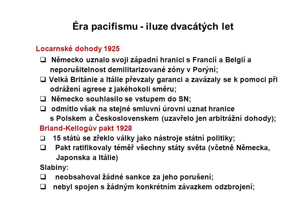Éra pacifismu - iluze dvacátých let