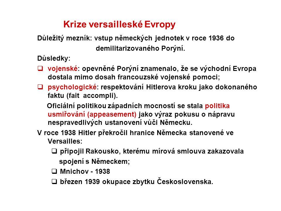 Krize versailleské Evropy