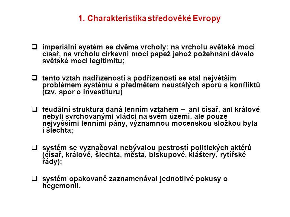 1. Charakteristika středověké Evropy