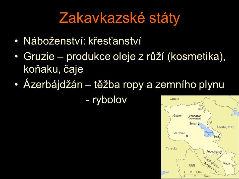Zakavkazské státy Náboženství: křesťanství
