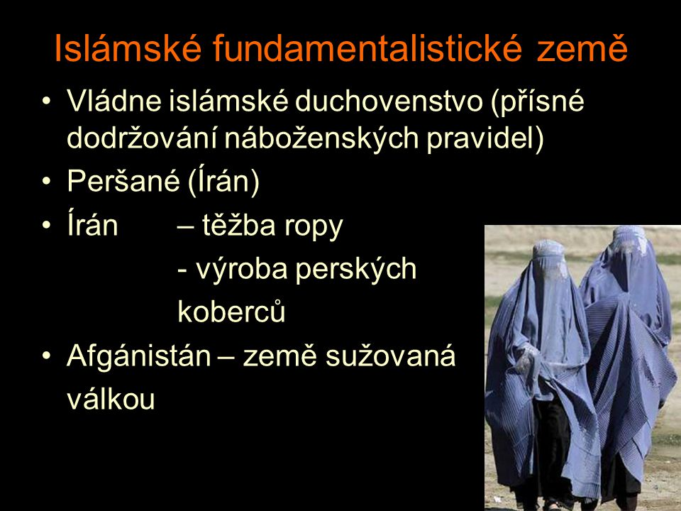 Islámské fundamentalistické země