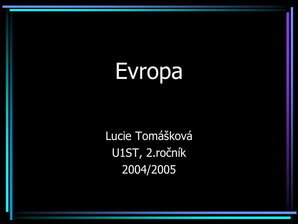 Lucie Tomášková U1ST, 2.ročník 2004/2005
