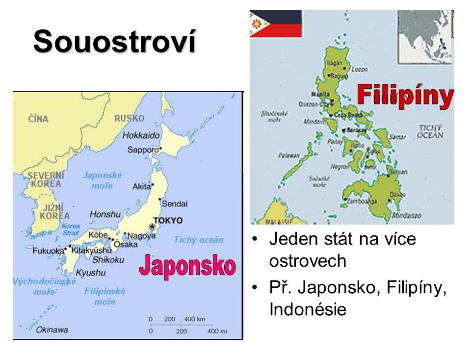 Souostroví Filipíny Japonsko Jeden stát na více ostrovech