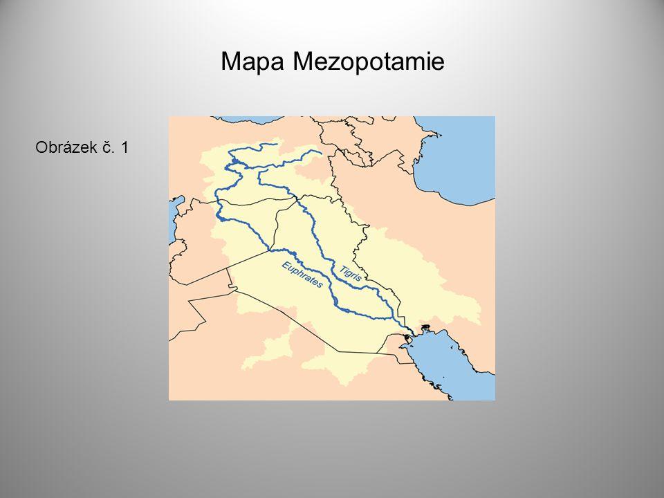 Mapa Mezopotamie Obrázek č. 1
