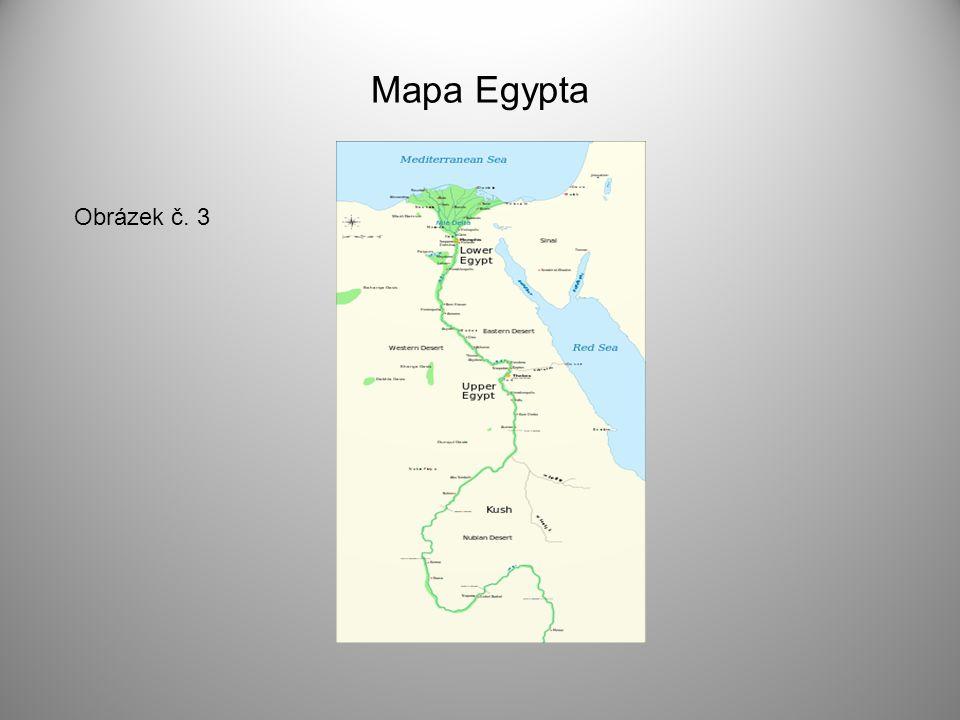 Mapa Egypta Obrázek č. 3