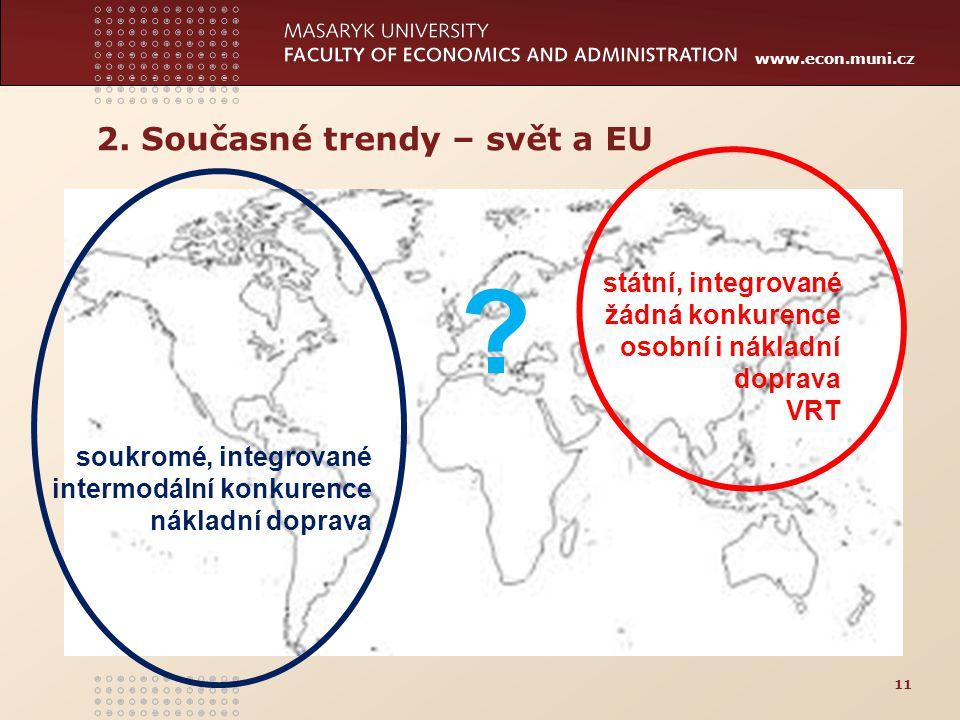 2. Současné trendy – svět a EU