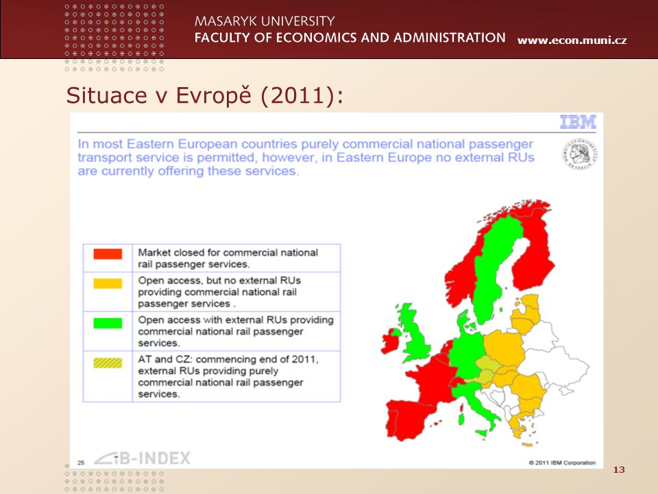 Situace v Evropě (2011):