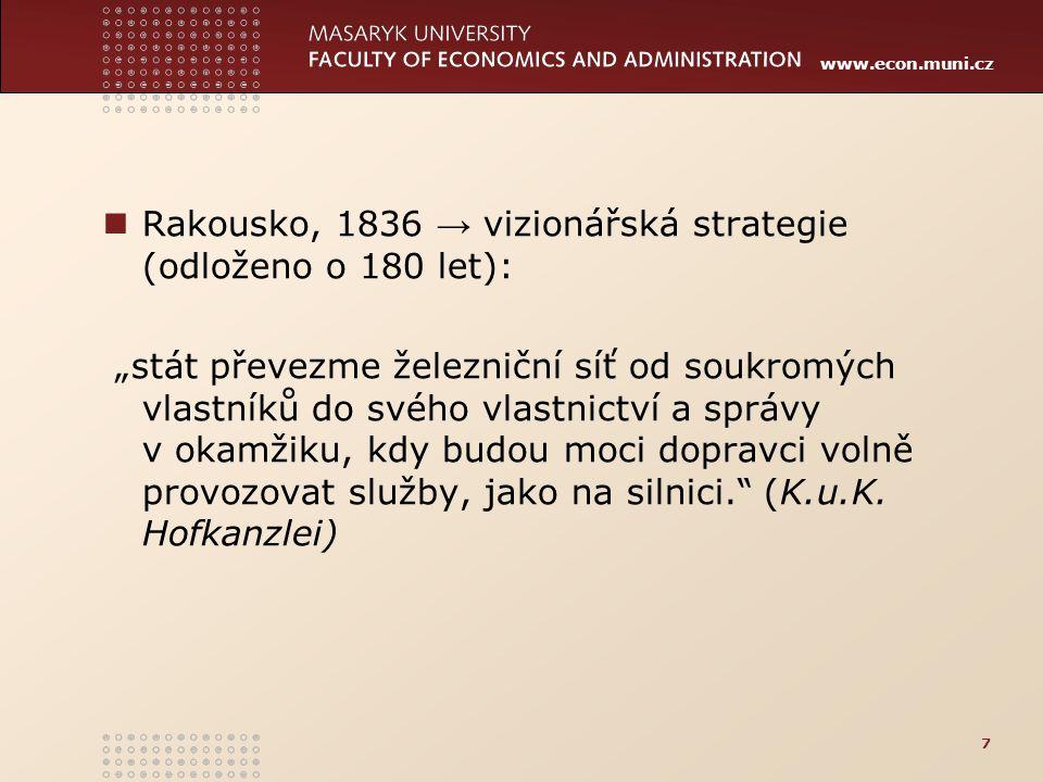 Rakousko, 1836 → vizionářská strategie (odloženo o 180 let):