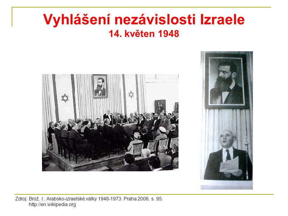 Vyhlášení nezávislosti Izraele 14. květen 1948