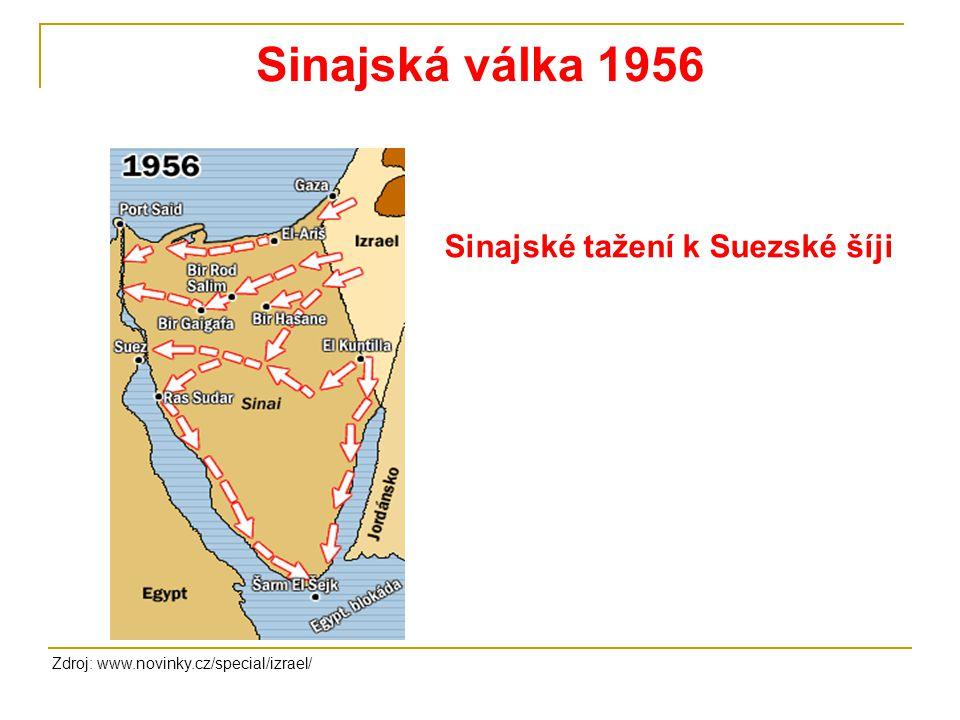 Sinajská válka 1956 Sinajské tažení k Suezské šíji