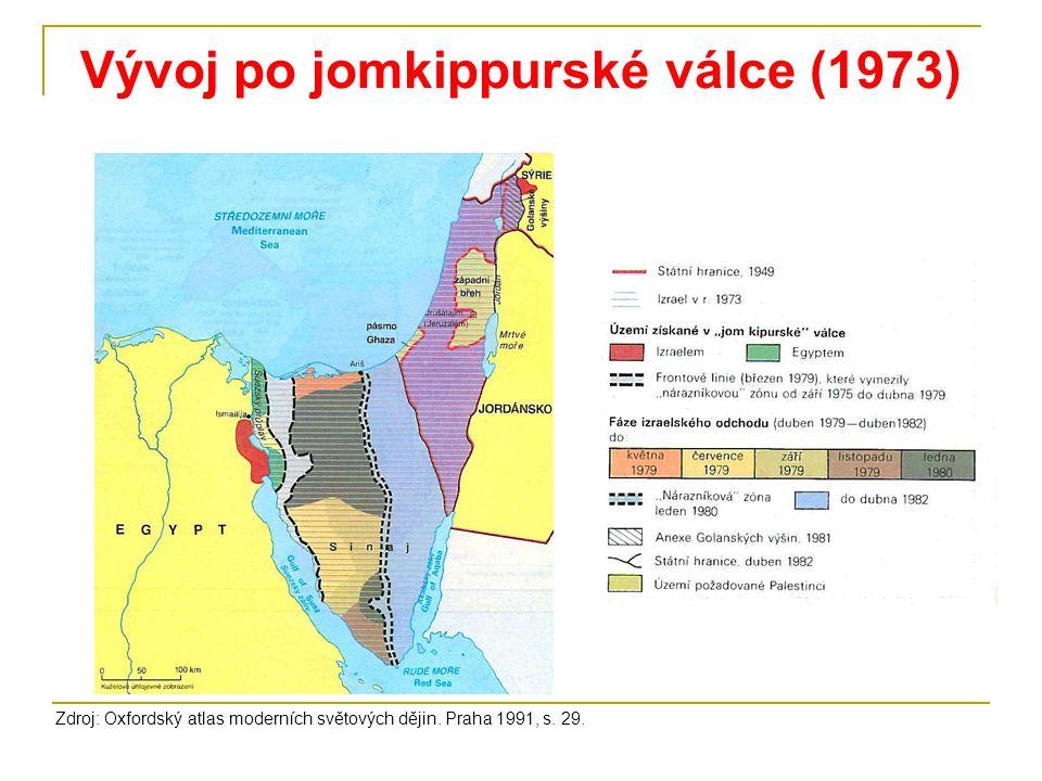 Vývoj po jomkippurské válce (1973)