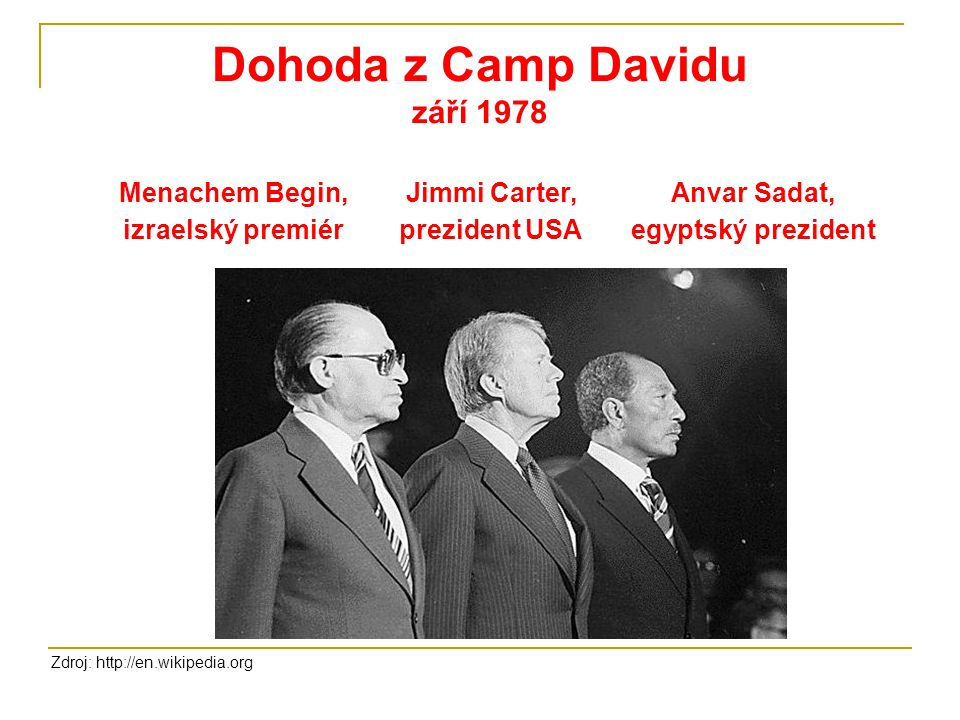Dohoda z Camp Davidu září 1978