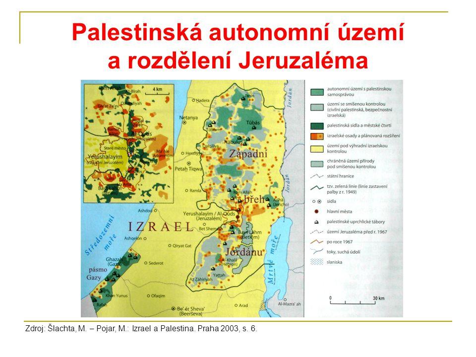 Palestinská autonomní území a rozdělení Jeruzaléma