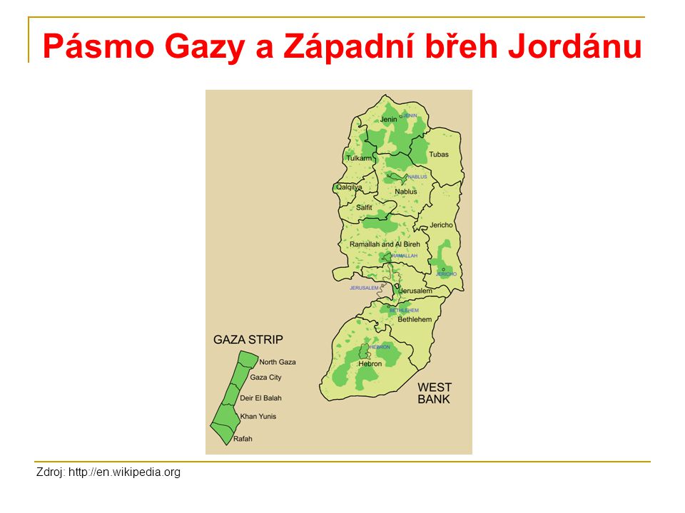 Pásmo Gazy a Západní břeh Jordánu
