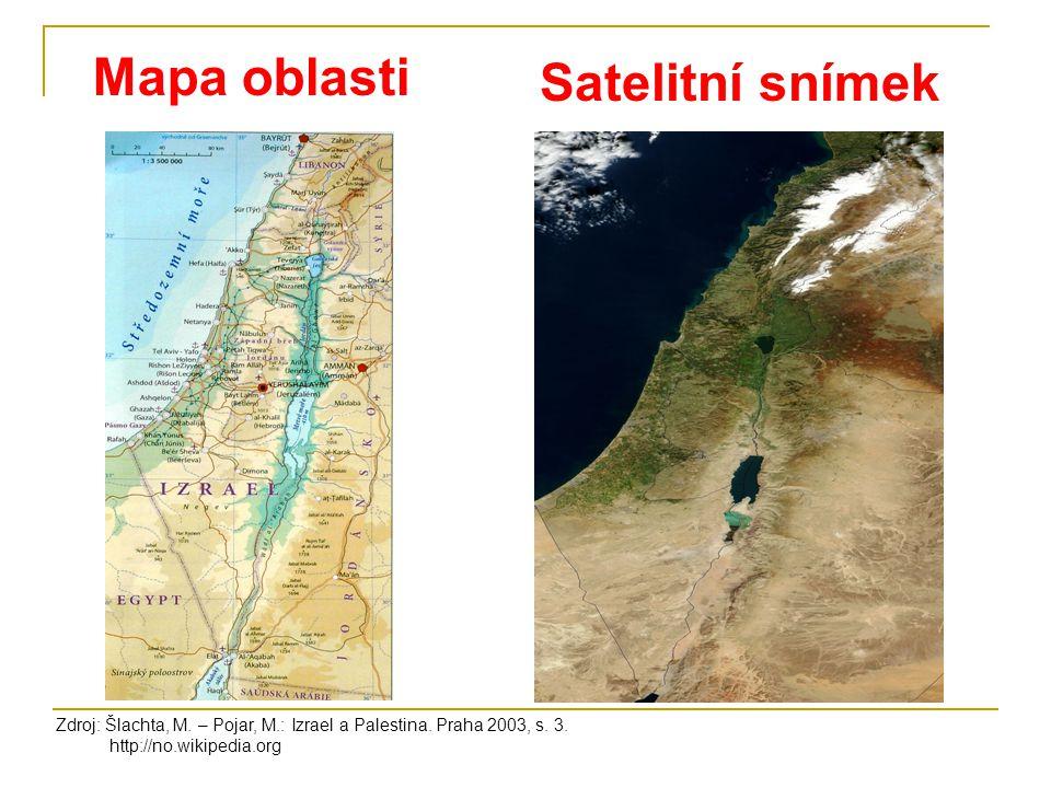 Mapa oblasti Satelitní snímek