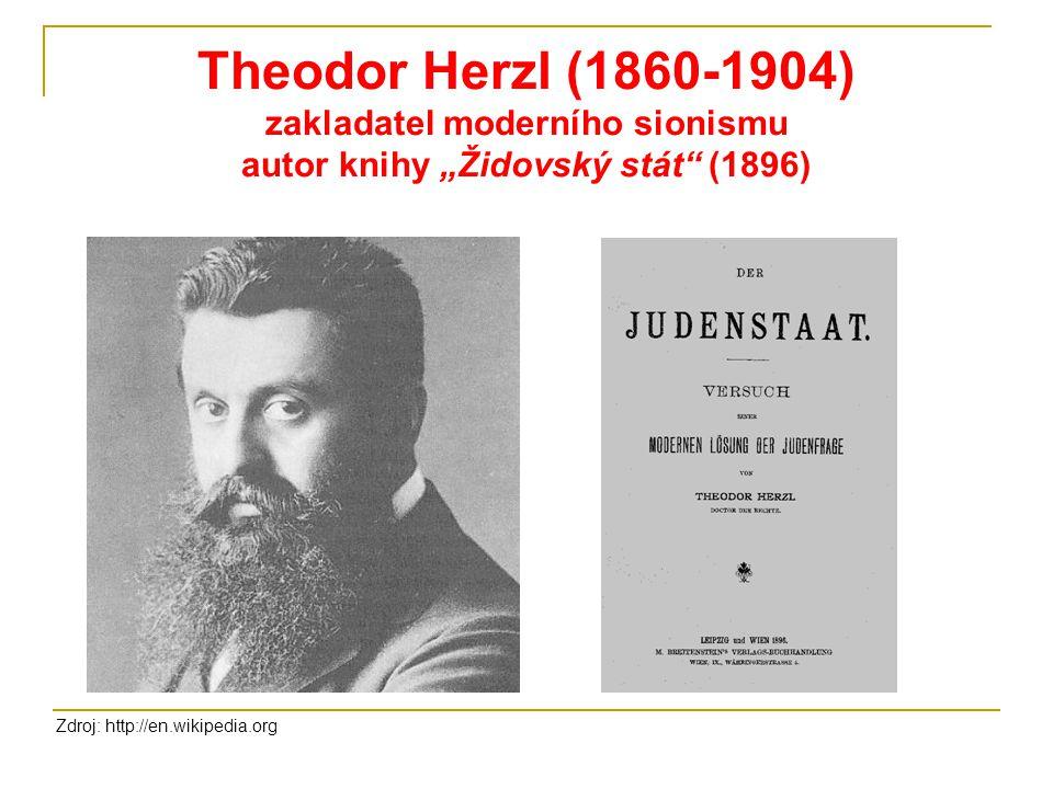 """Theodor Herzl (1860-1904) zakladatel moderního sionismu autor knihy """"Židovský stát (1896)"""