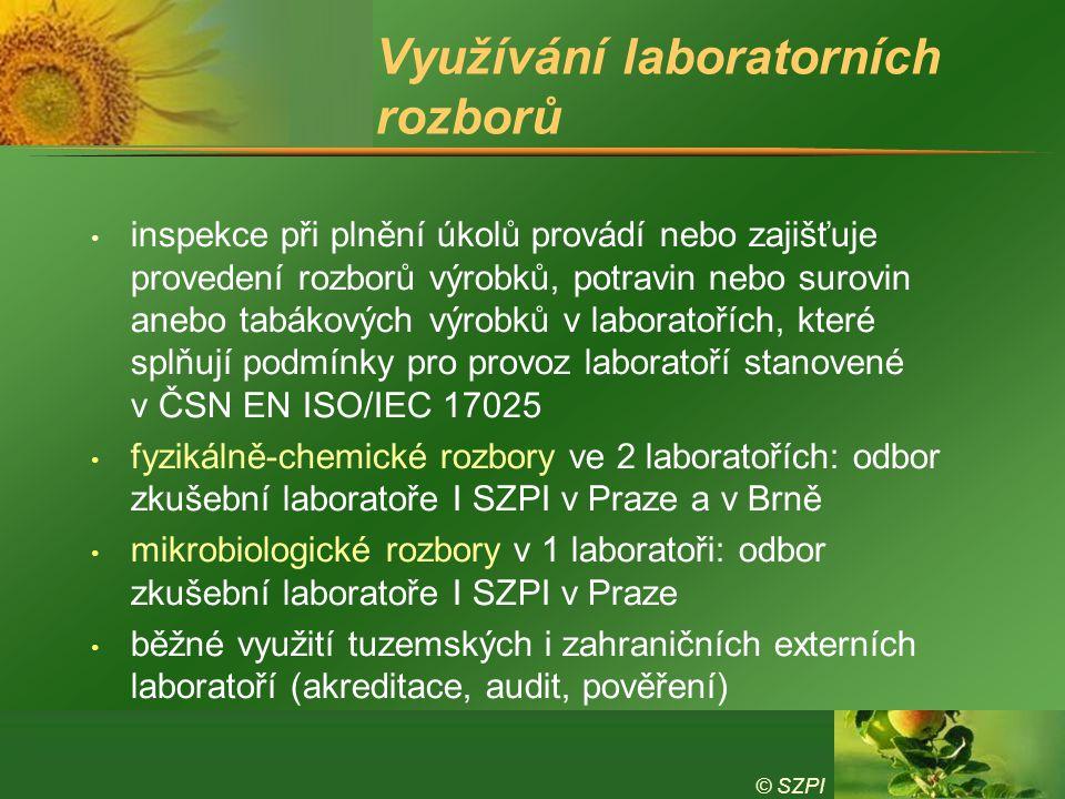 Využívání laboratorních rozborů
