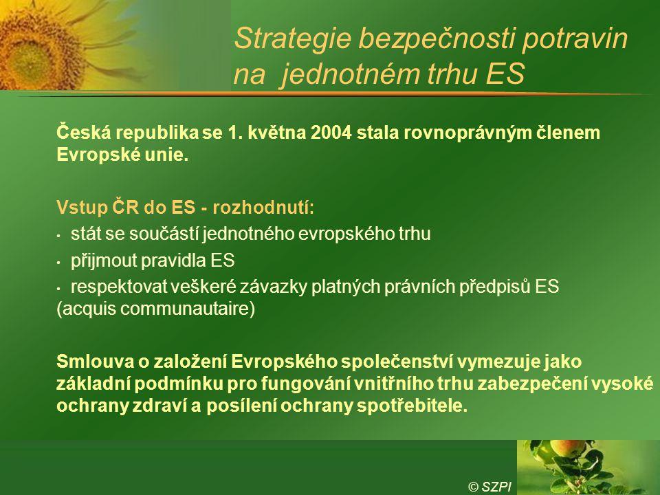 Strategie bezpečnosti potravin na jednotném trhu ES