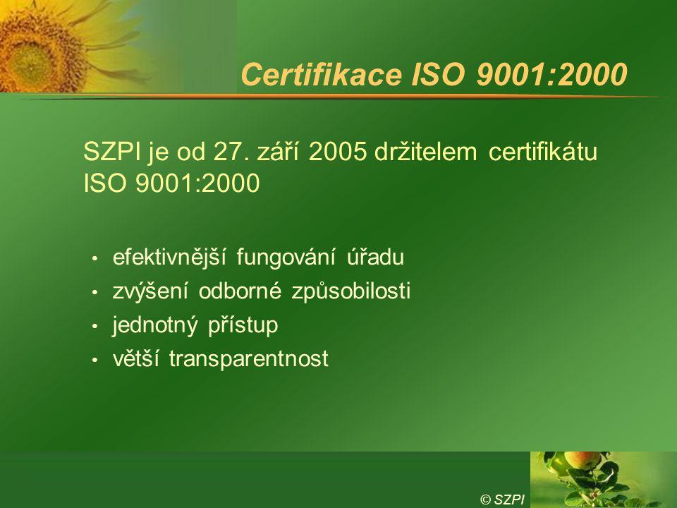Certifikace ISO 9001:2000 efektivnější fungování úřadu