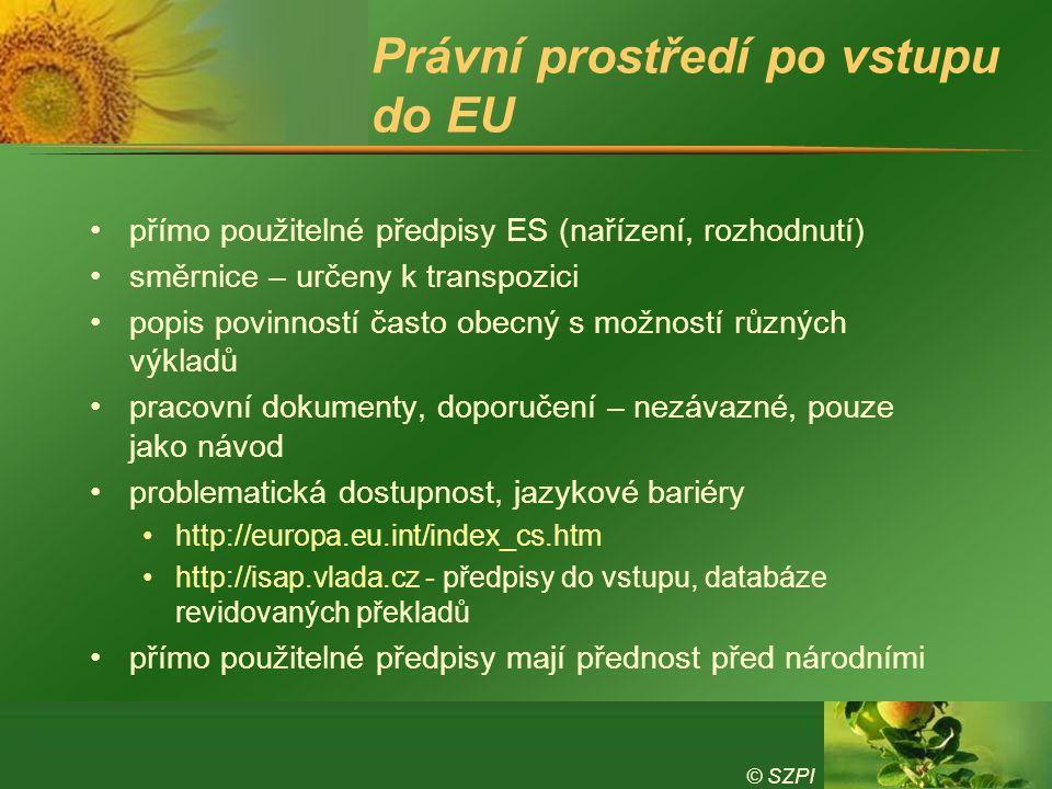 Právní prostředí po vstupu do EU
