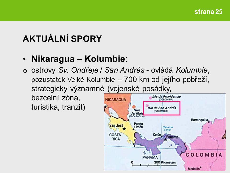 AKTUÁLNÍ SPORY Nikaragua – Kolumbie: