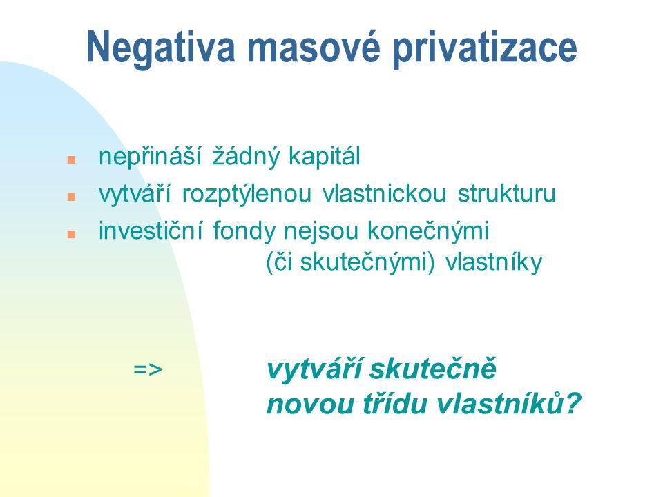 Negativa masové privatizace