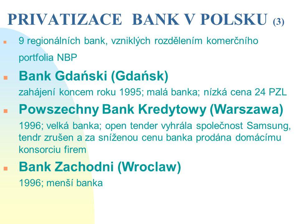 PRIVATIZACE BANK V POLSKU (3)