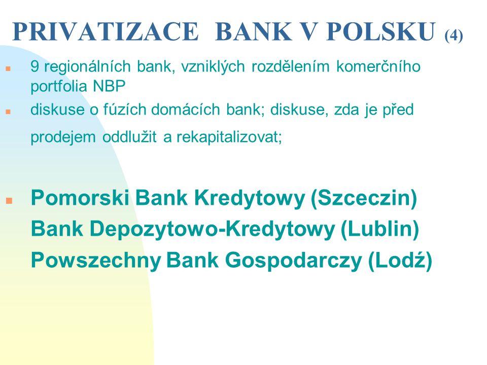 PRIVATIZACE BANK V POLSKU (4)