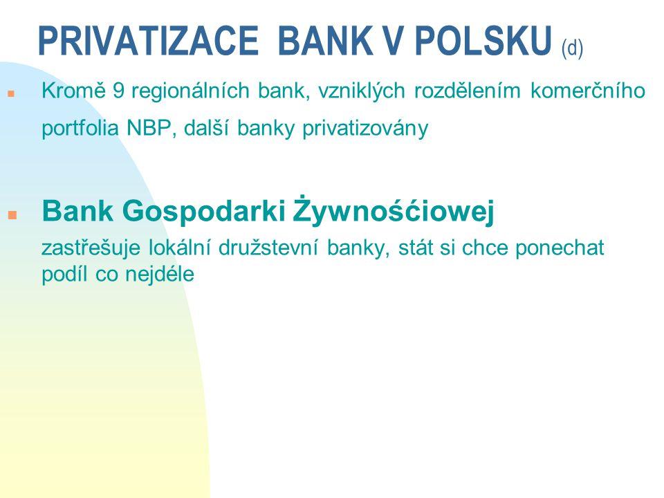 PRIVATIZACE BANK V POLSKU (d)