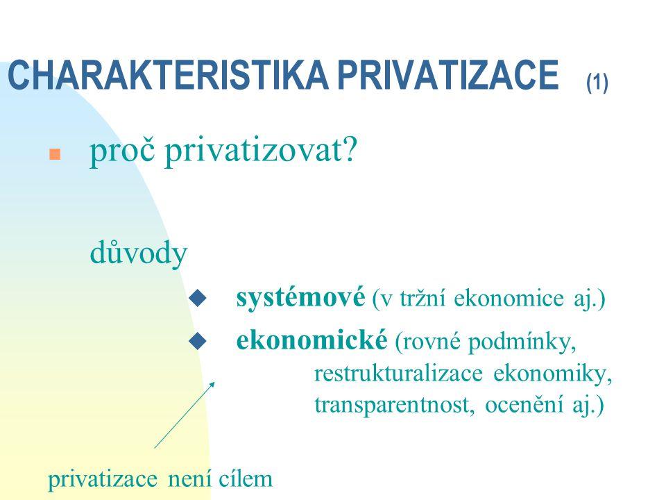 CHARAKTERISTIKA PRIVATIZACE (1)