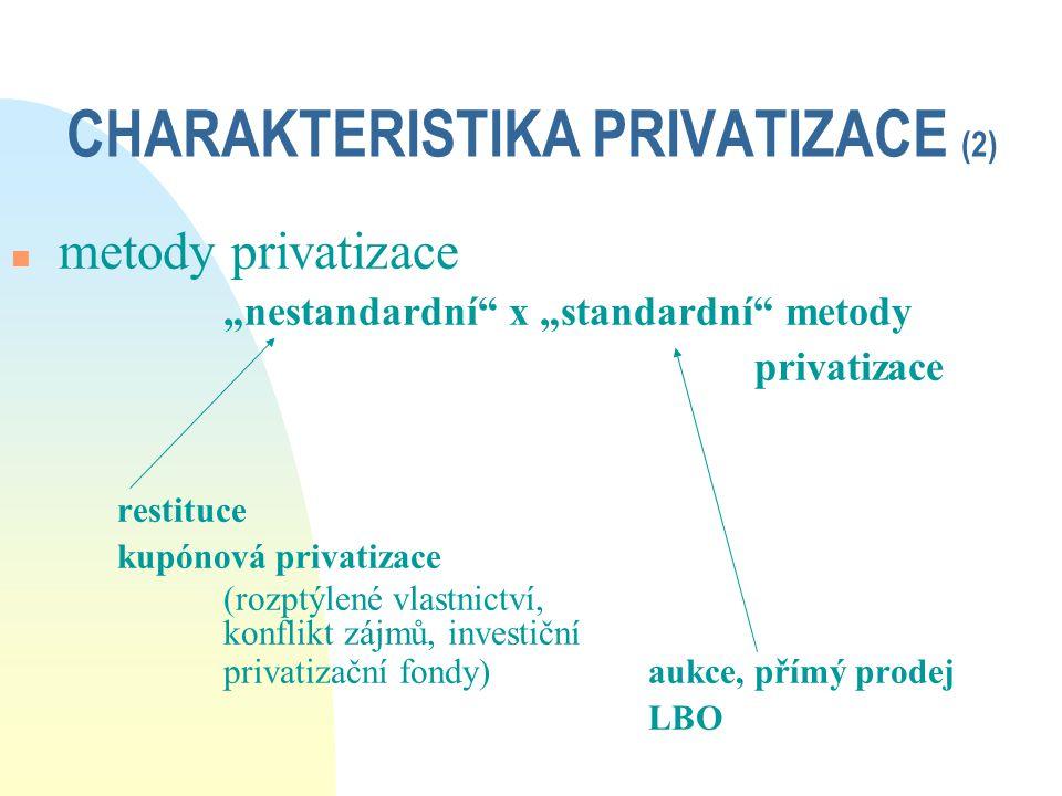 CHARAKTERISTIKA PRIVATIZACE (2)