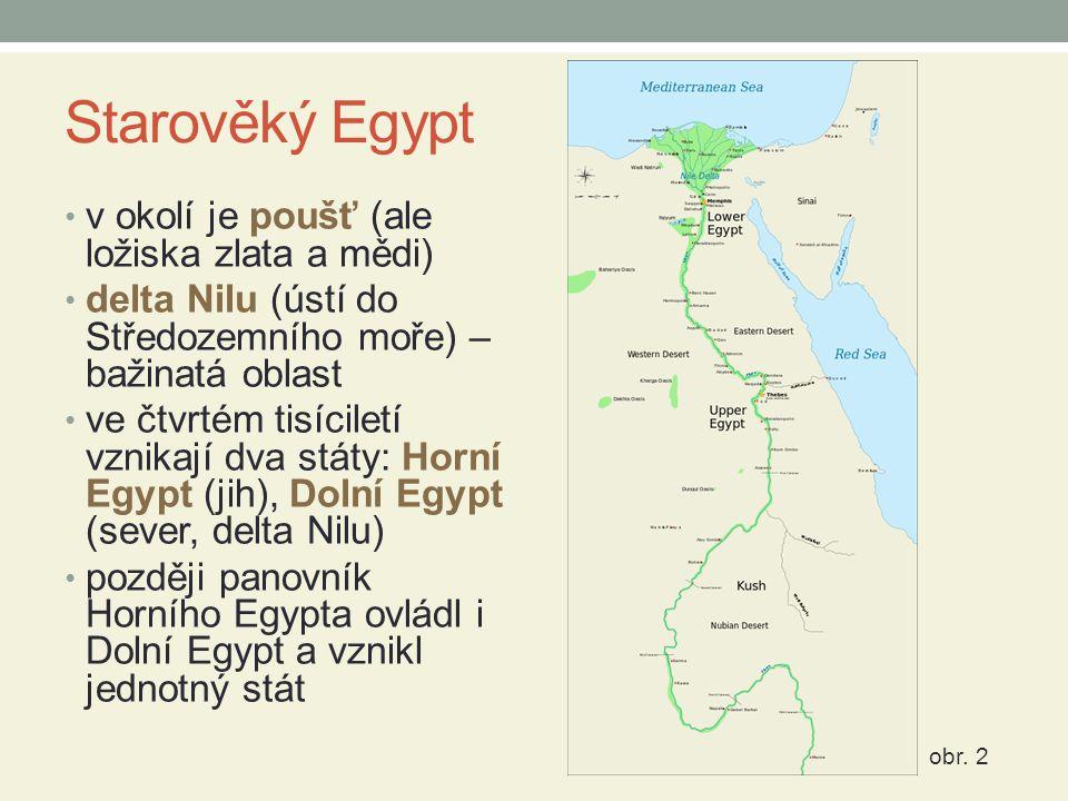 Starověký Egypt v okolí je poušť (ale ložiska zlata a mědi)