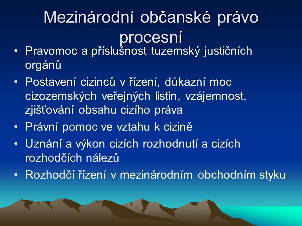 Mezinárodní občanské právo procesní