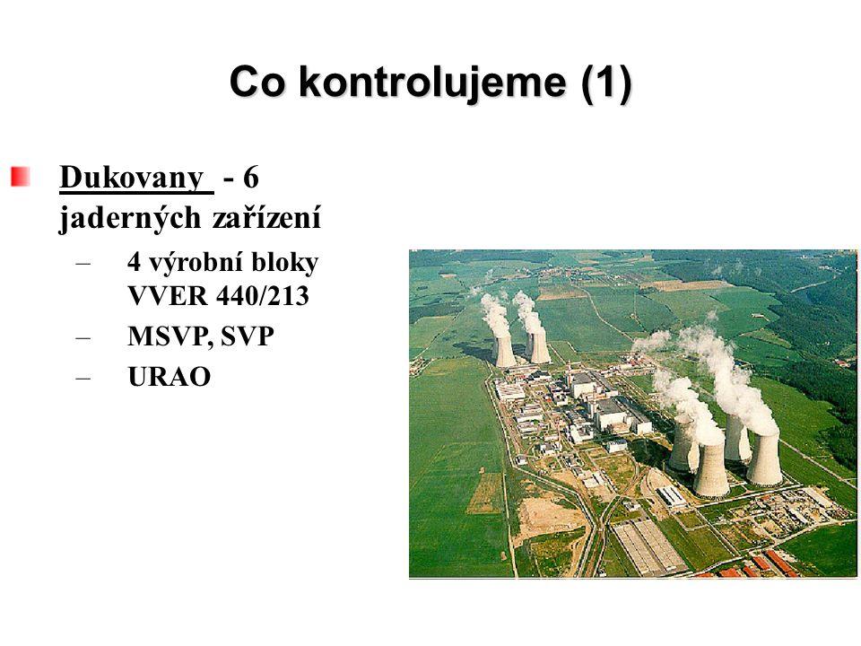 Co kontrolujeme (1) Dukovany - 6 jaderných zařízení