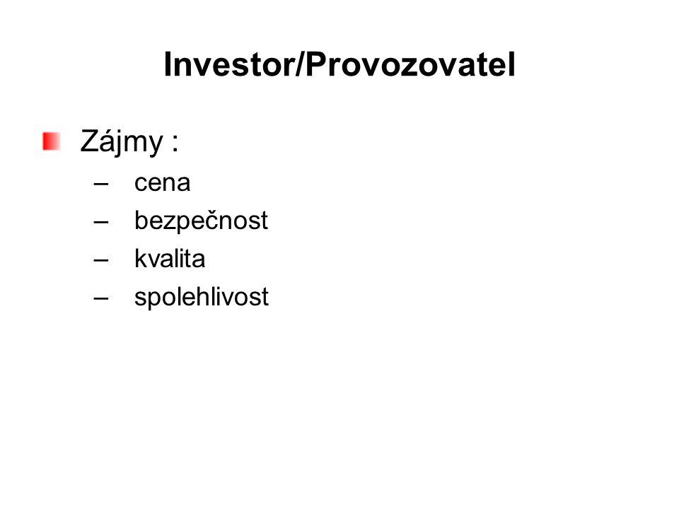 Investor/Provozovatel