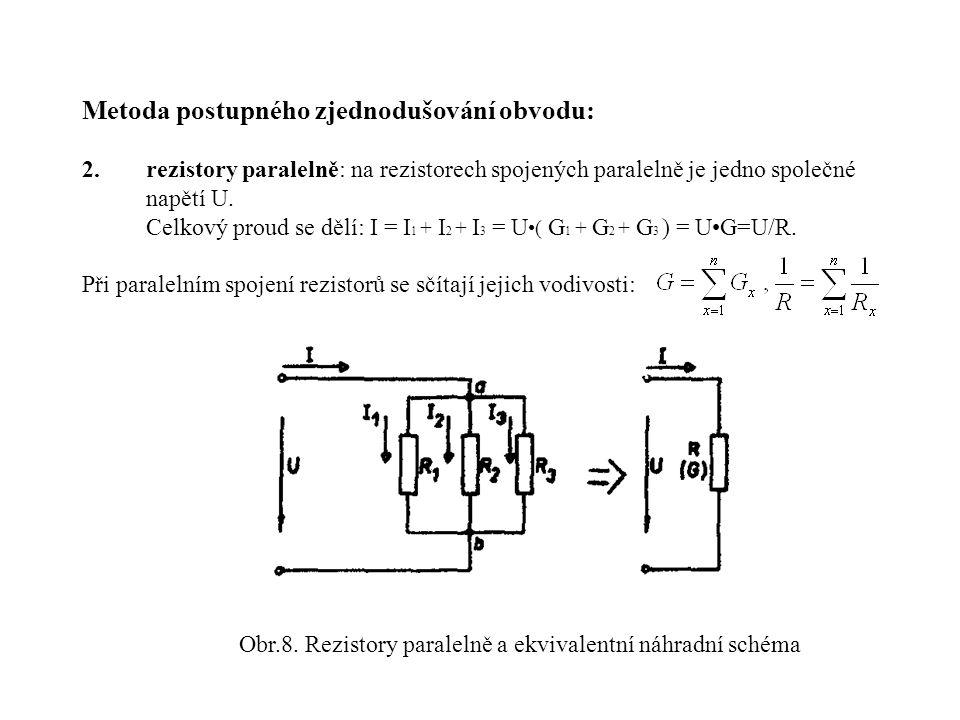 Obr.8. Rezistory paralelně a ekvivalentní náhradní schéma