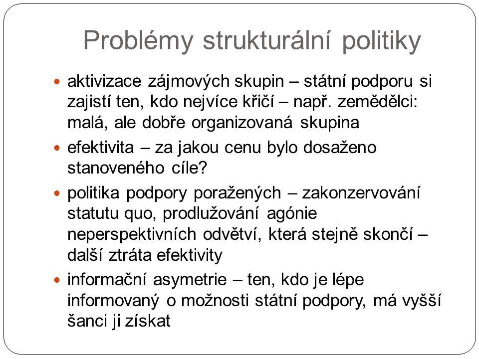 Problémy strukturální politiky