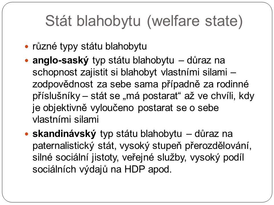 Stát blahobytu (welfare state)