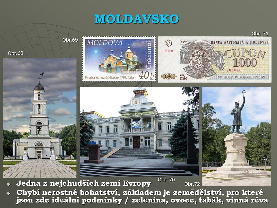 MOLDAVSKO Jedna z nejchudších zemí Evropy