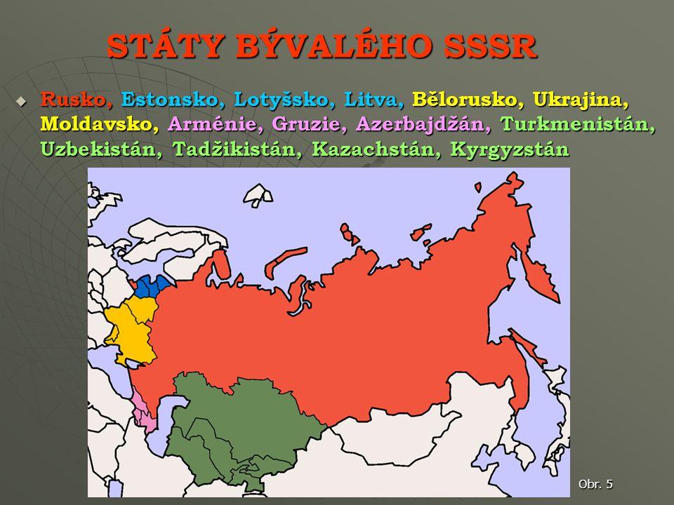 STÁTY BÝVALÉHO SSSR