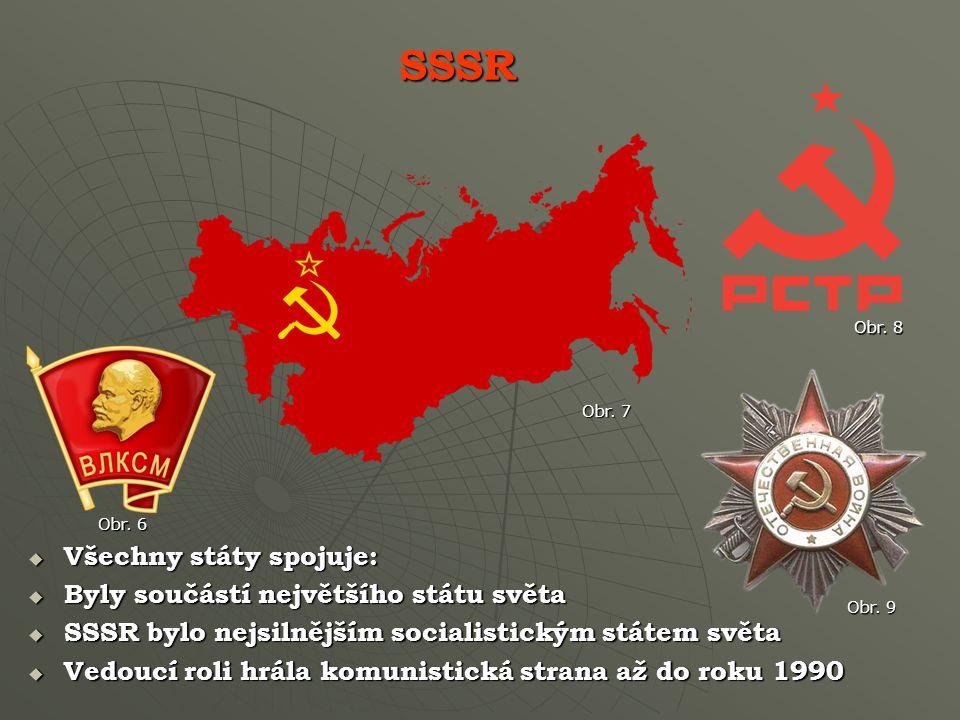 SSSR Všechny státy spojuje: Byly součástí největšího státu světa