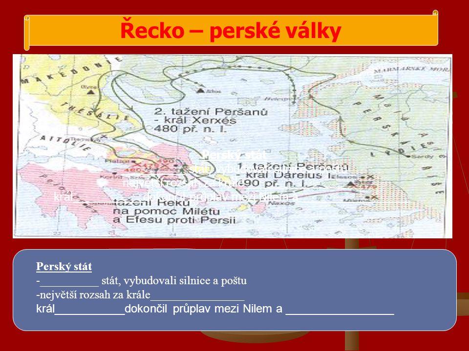 Řecko – perské války Perský stát