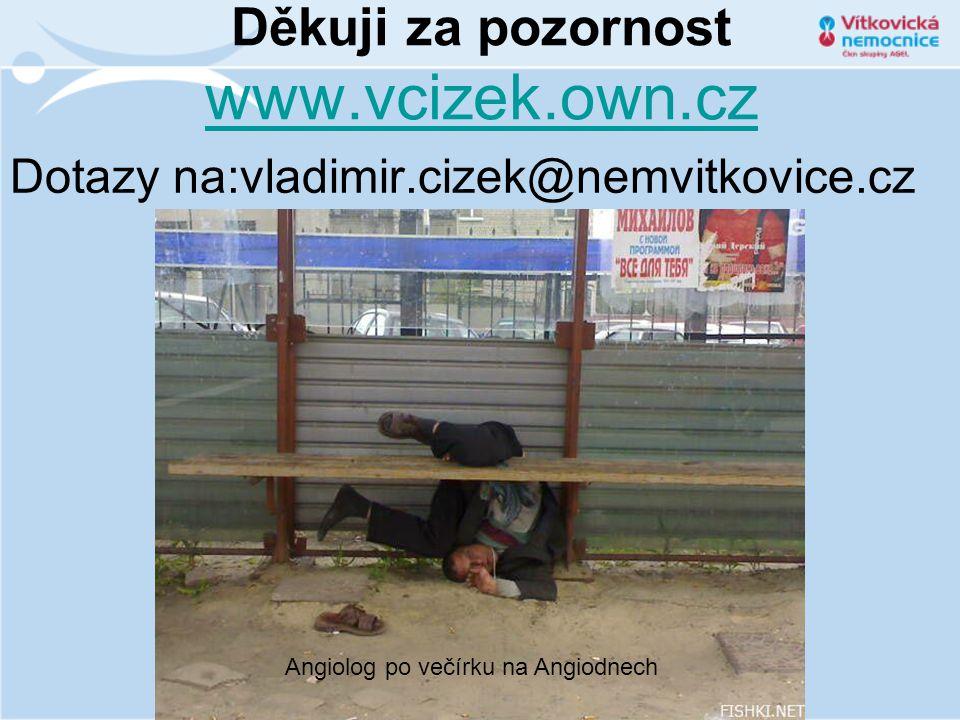 Děkuji za pozornost www.vcizek.own.cz