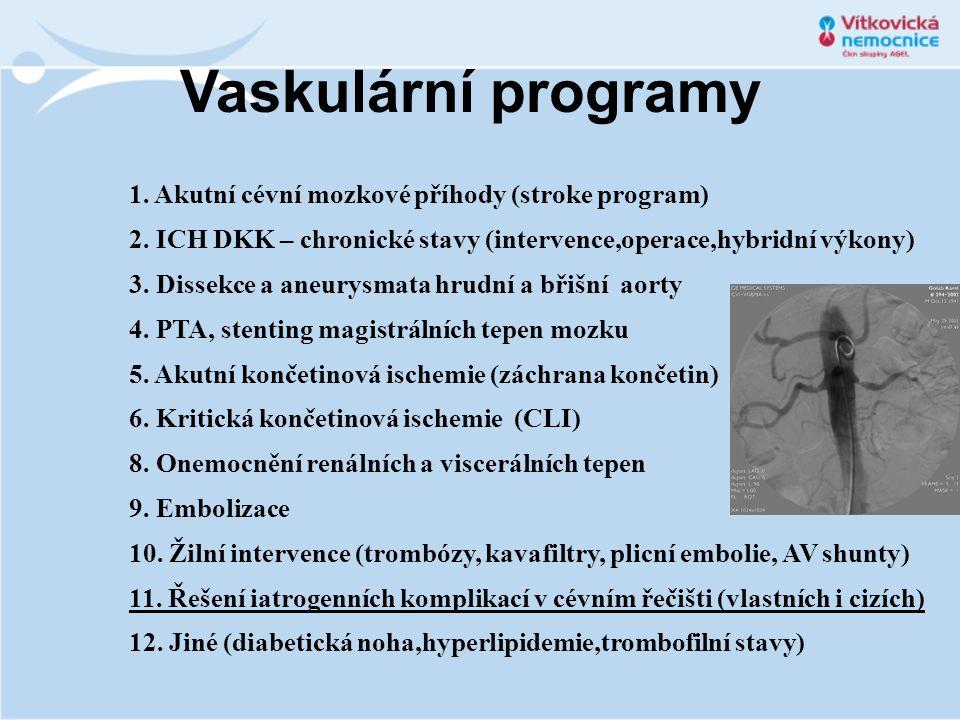 Vaskulární programy 1. Akutní cévní mozkové příhody (stroke program)